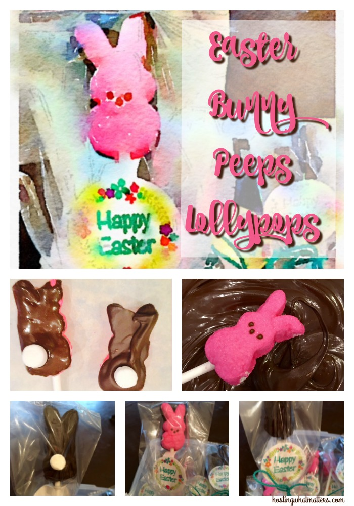 Chocolate Covered Bunny Peeps Lollypops
