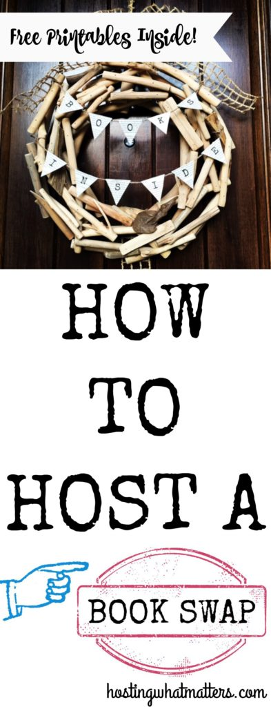 How to Host a Book Swap Pin