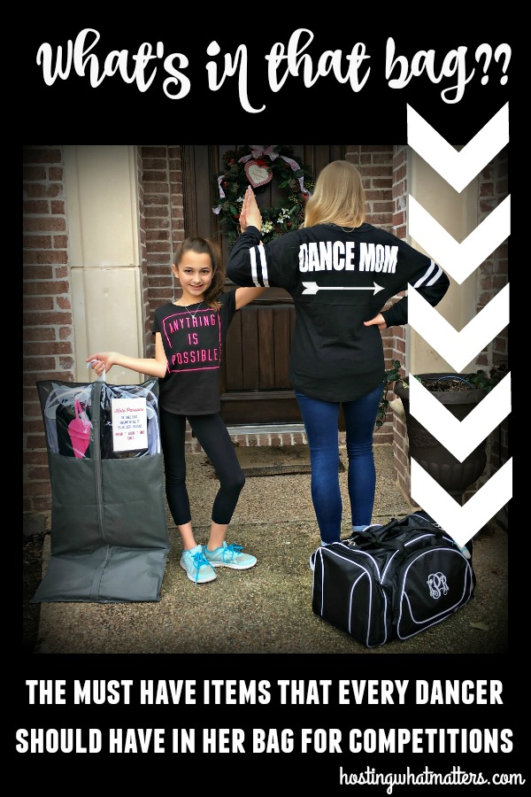 What's in that Bag?  Must Have Products for Every Dancer at Competitions!